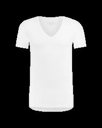 T-Shirt Diepe V Hals Wit Dry Comfort 8-Pack