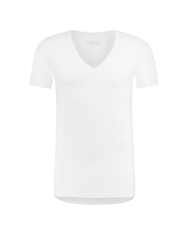 T-Shirt Diepe V Hals Wit Dry Comfort 10-Pack