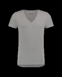 T-Shirt Diepe V Hals Grijs 8-pack