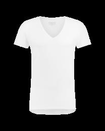 T-Shirt Diepe V Hals Wit 8-pack