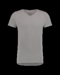 T-Shirt Normale V Hals Grijs 10-pack