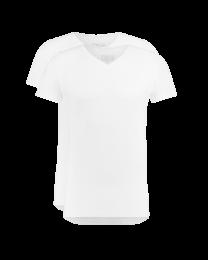 T-Shirt Normale V Hals Wit 2-pack