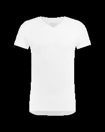 T-Shirt Normale V hals Wit 8-pack